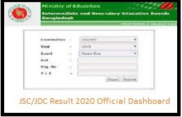 JSC Result 2020 With Marksheet Release All Board (*Out)