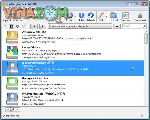 Cyberduck FTP Client cho PC