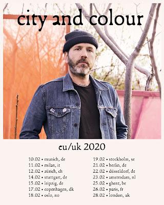 CITY AND COLOUR Announces European and UK Tour -  Plays London Palladium 28th February 2020