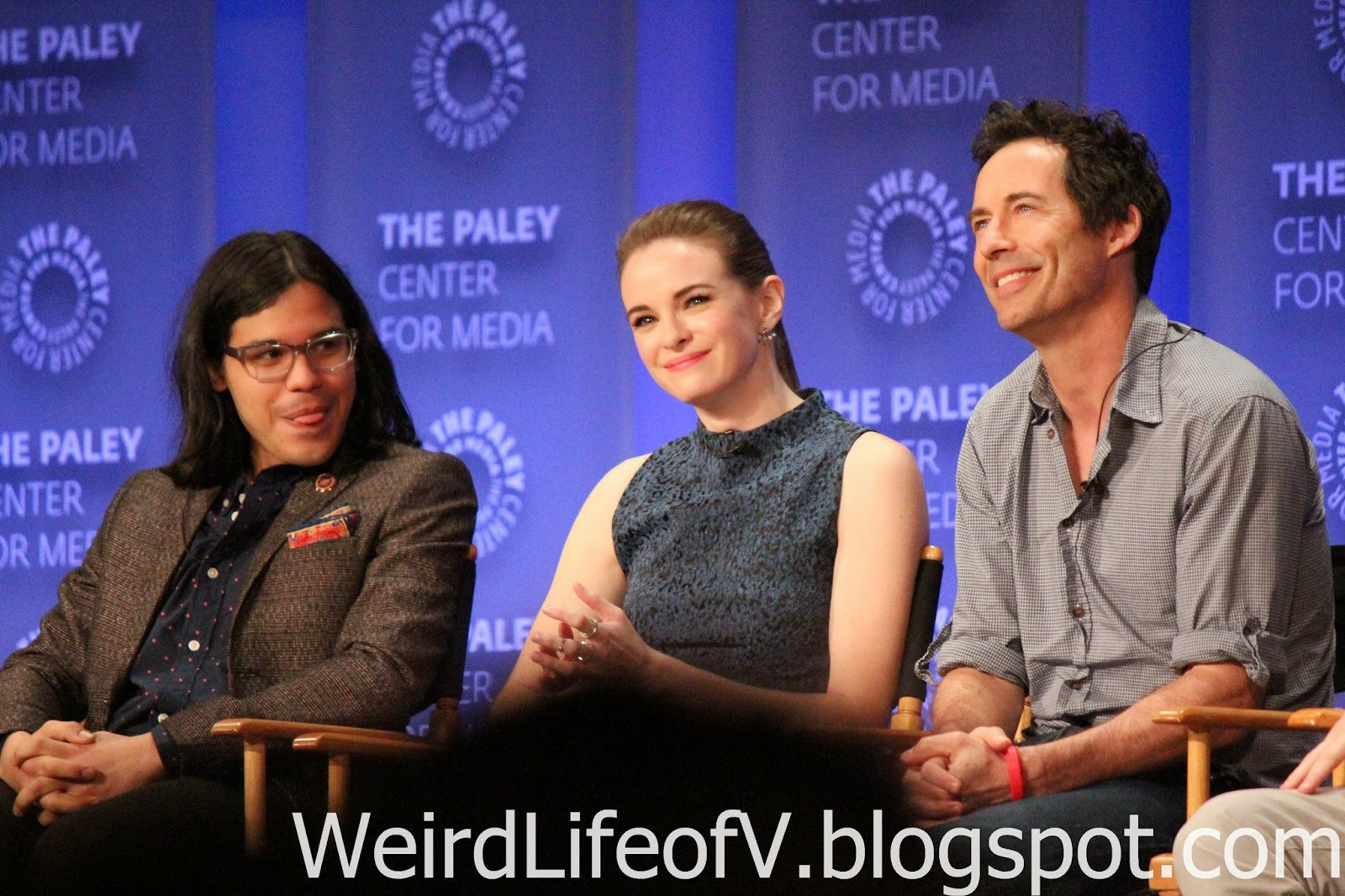 Carlos Valdes, Danielle Panabaker, and Tom Cavanaugh