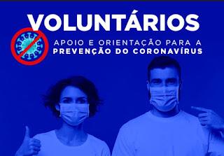 Departamento de Saúde abre vagas para voluntários de apoio contra o Coronavírus