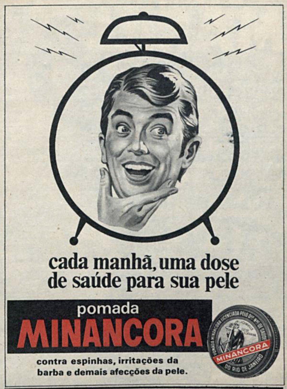Anúncio antigo da Pomada Minâncora veiculado em 1971