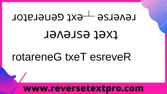 reverse text