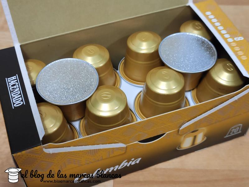 Detalle de las Cápsulas de café compatibles con Nespresso Colombia HACENDADO (Mercadona) en El Blog de las Marcas Blancas