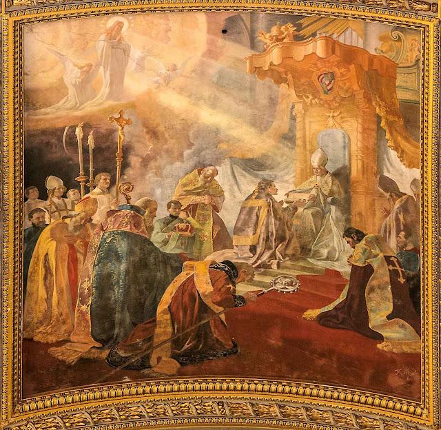 Beato Pio IX proclama o dogma da Imaculada Conceição, Sant'Andrea della Valle, Roma.