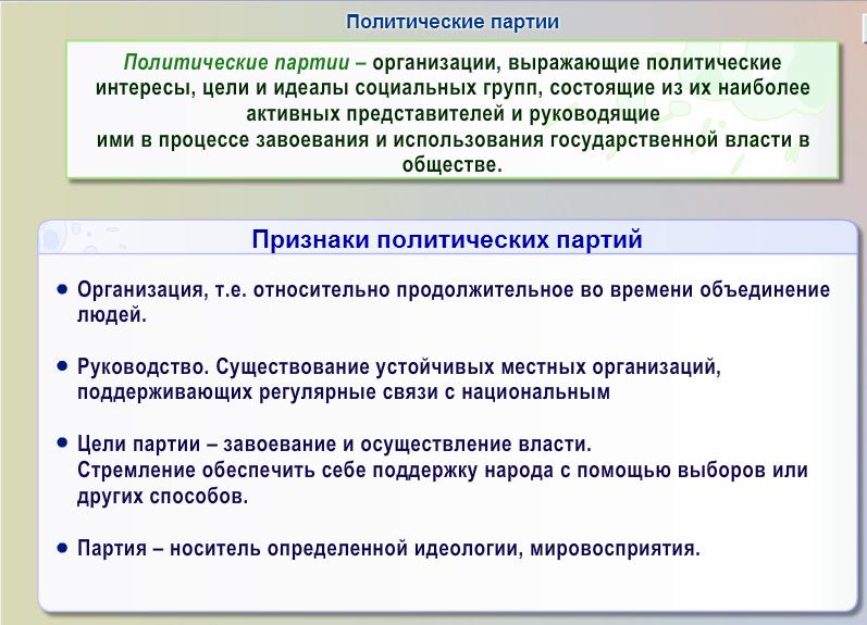 Государство и политические партии