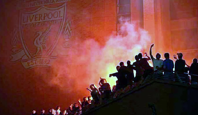 A 30-year sit tight for a title drove Liverpool fans to overlook social separating rules as they accumulated outside Anfield for the festival of their English title win on Thursday.