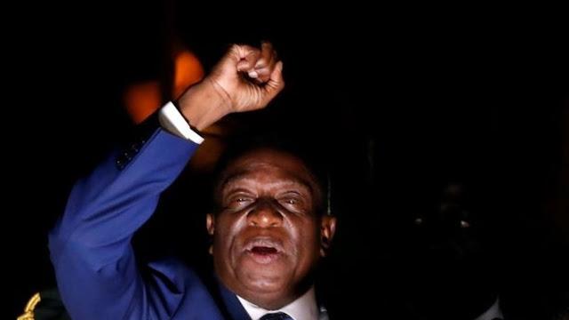Emmerson Mnangagwa returned to Zimbabwe on Wednesday to a hero's welcome