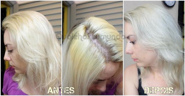 tonalização cabelo loiro