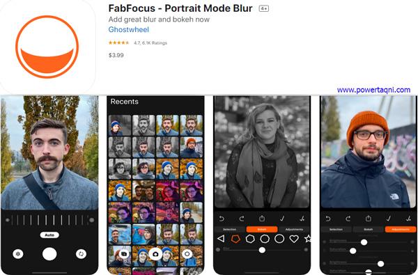 """2. تطبيق """"FabFocus - Portrait Mode Blur"""""""