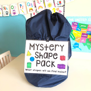 Mystery bag for 3D shapes