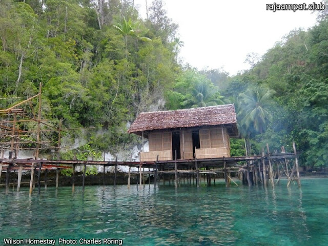 Wilson homestay in the south of Waigeo island