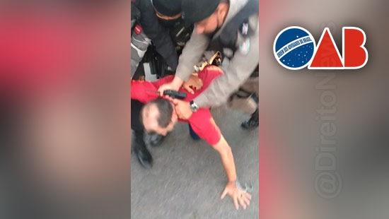 oab denuncia agressao pm advogado paraiba