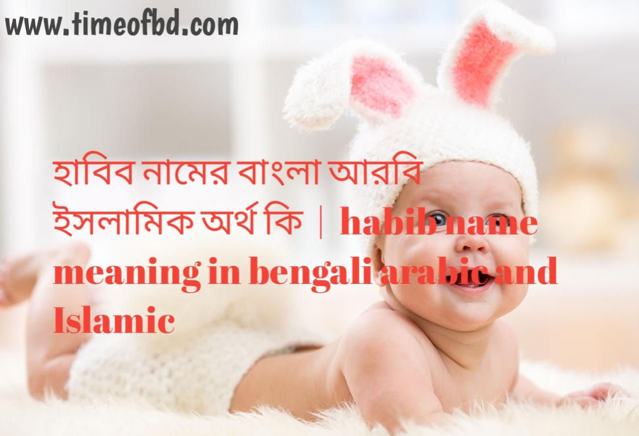 হাবিব নামের অর্থ কী, হাবিব নামের বাংলা অর্থ কি, হাবিব নামের ইসলামিক অর্থ কি, habib name meaning in bengali