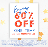 "Shop Blitsy (One iten 60% with code ""MEMORIAL60"""