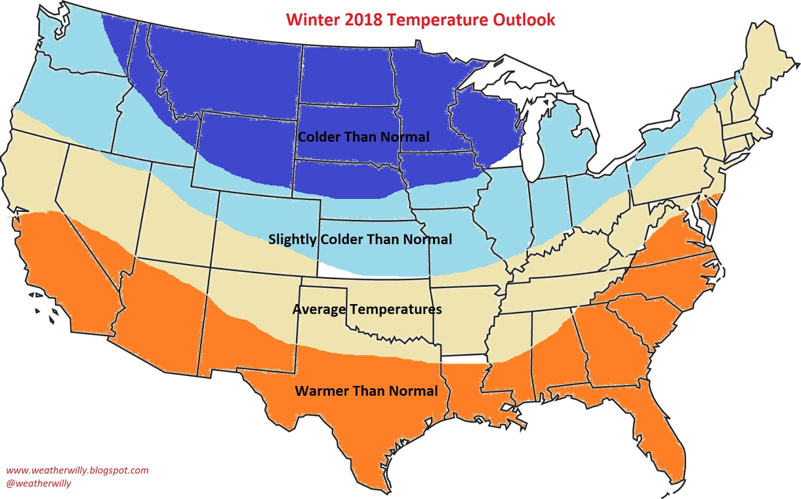 Well That Time Of Year Is Finally Here When We Speculate On What The Winter Season Ahead May Bring Below Is My Map Release Of The Winter 2018 Outlook