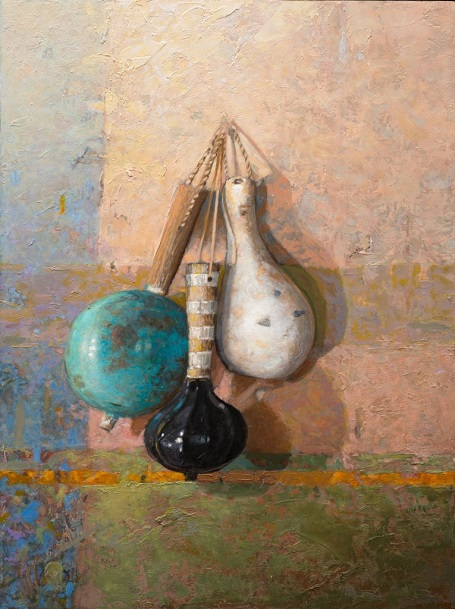 "by William Sheperd, ""Three Rattles"" - oil on panel 