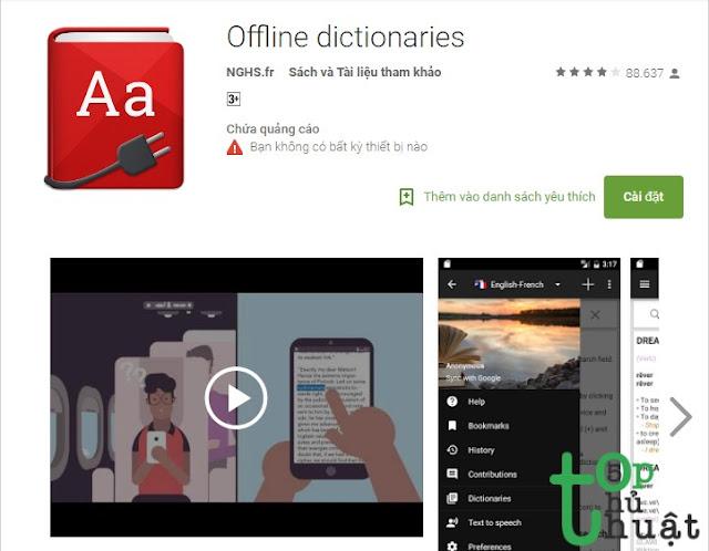 OFFLINE DICTIONARIES: Ứng dụng từ điển