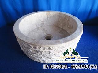wastafel marmo bulat