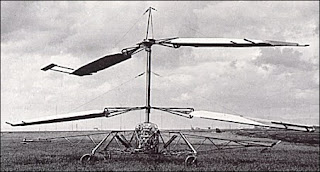 D'Ascanio's D'AT 3 helicopter, which he launched  successfully at Ciampino airport outside Rome in 1930