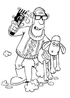 Malvorlagen Shaun das Schaf zum Ausmalen