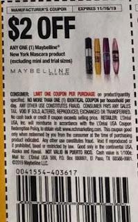 $2/1 Maybelline New York Mascara