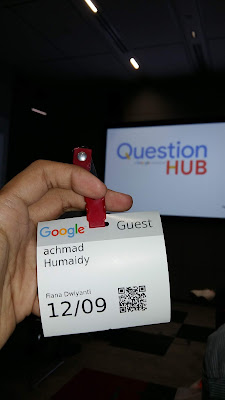 tanda pengenal saat ke kantor Google Indonesia