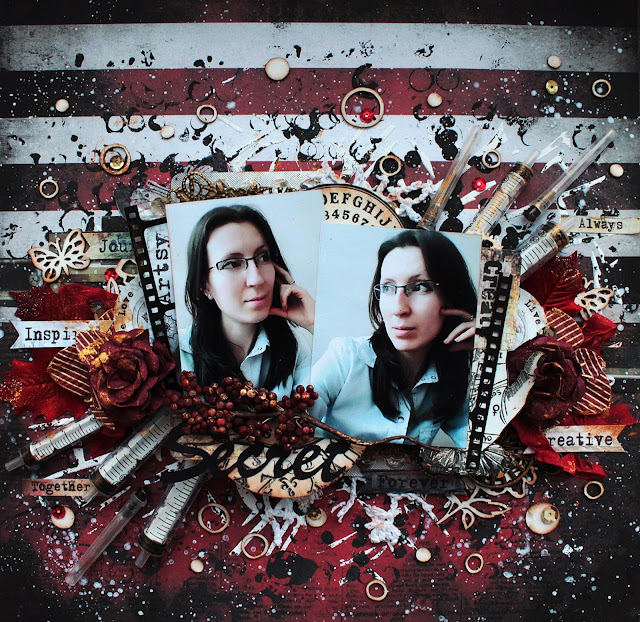 @marinasyskova #scrap #scrapbooking #mixedmeida #lo #layout #Yuletide @7dotsstudio