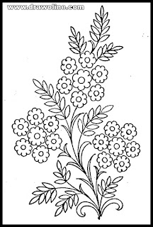 flower designs(very simple) for pencil drawing/how to draw flower designs on paper/Embroidery flower design drawing