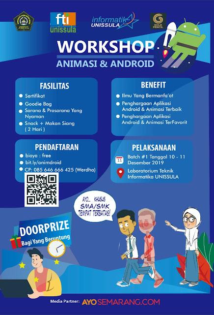 Isi liburan sekolah, Unissula gelar workshop animasi dan android untuk pelajar
