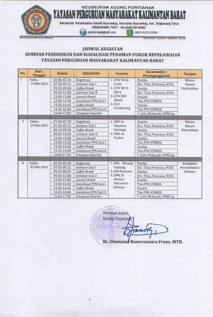Kegiatan Seminar Yayasan Perguruan Masyarakat Kalimantan Barat