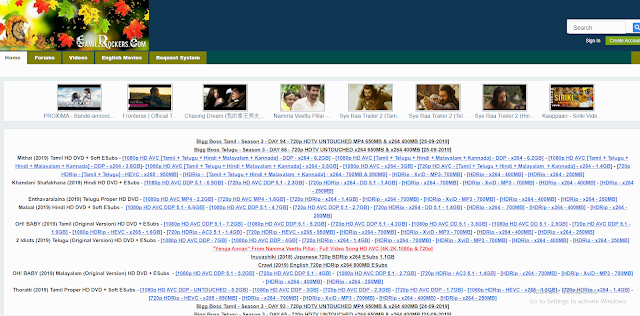 Tamilrockers 2020 Homepage - Download Tamil Telugu HD Movies