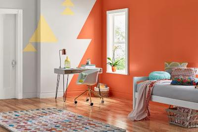 Warna Oranye yang Ceria