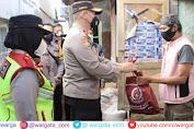 Kasetukpa Lemdiklat Polri Bagikan 1000 Paket Sembako ke Warga di Sukabumi