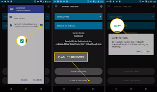 "Select ""Flash to Recovery"" and then tap on Confirm"
