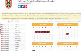 Kalender Pendidikan Tahun Pelajaran 2016/2017 Semua Propinsi Indonesia