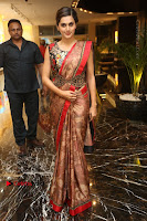 Tapsee Pannu Latest Stills in Red Silk Saree at Anando hma Pre Release Event .COM 0025.JPG