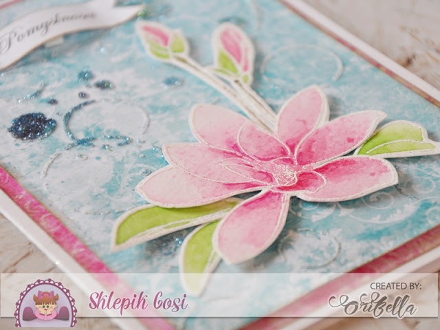 magnoliowa kartka