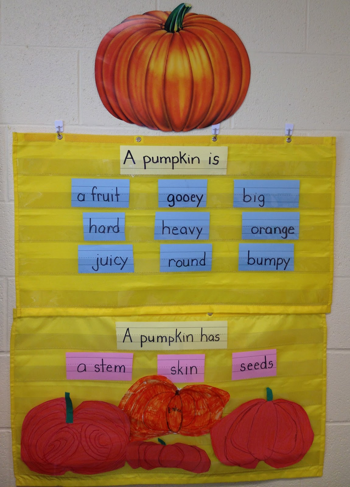 My First Grade Backpack Pumpkin Anchor Charts