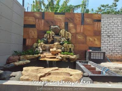 Jasa Pembuatan Relief Kolam Tebing Klaten | Tukang Dekorasi Relief Air Terjun