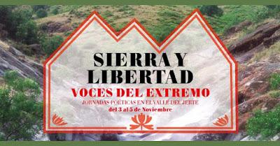 """Jornadas poéticas """"Sierra y Libertad"""". Voces del Extremo"""