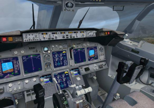 BBJ MAX 7 cockpit