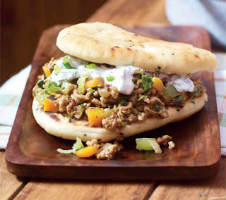 curried lamb sloppy joes with naan bread recipe