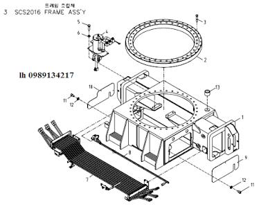 Quay toa- khung bệ của Cẩu soosan 20 tấn SCS2016