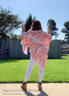 Vogue 1566 Back View of Pullover top on Sharon Sews blog