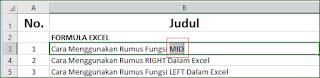 Trik Double Klik Mouse Excel