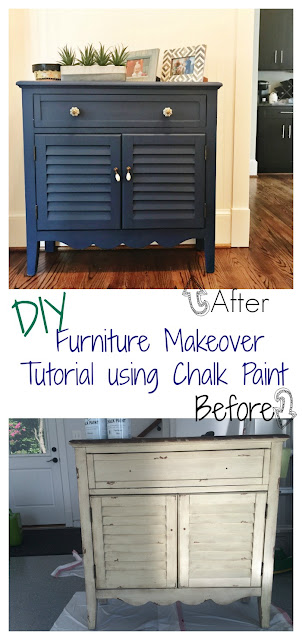 DIY Painted Cabinet Makeover Tutorial using Chalk Paint || The Chirping Moms