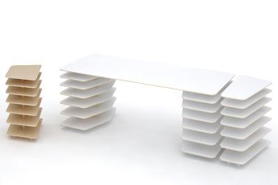 Diseño de escritorio muy practico y amplio.