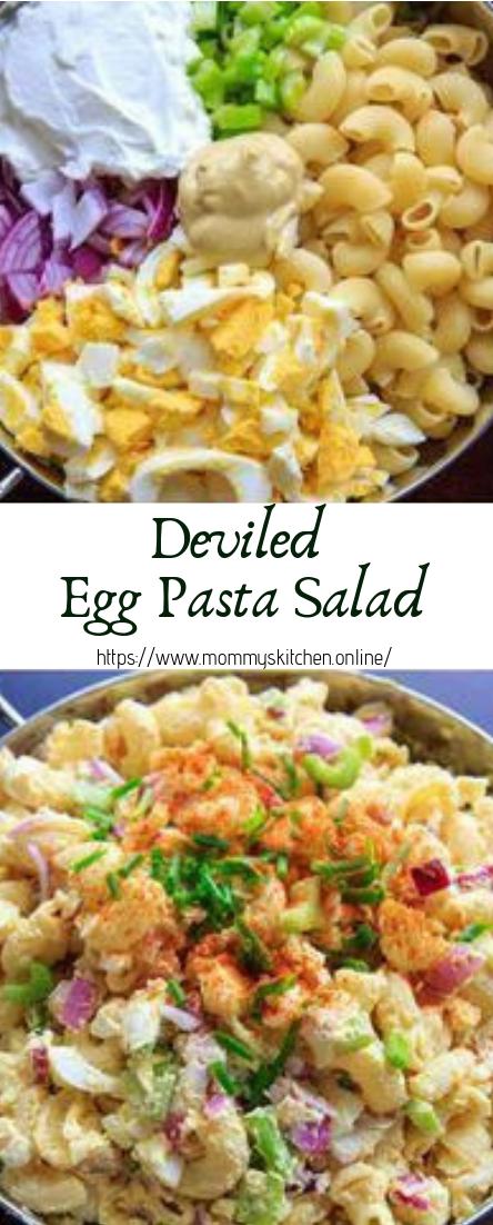 Deviled Egg Pasta Salad #vegan #recipevegetarian