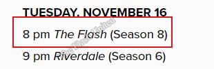 La temporada 8 The Flash se estrena el 16 de noviembre
